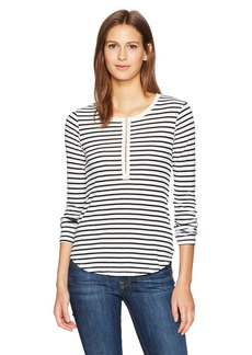 Splendid Women's Black Venice Stripe Henley  XS