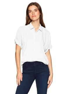 Splendid Women's Boyfriend Short Sleeve Shirt  S
