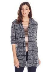 Splendid Women's Broome Stripe Loose Knit Long Cardigan