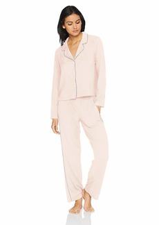 Splendid Women's Button up Long Sleeve Top Bottom Cozy Classic Pajama Set Pj  S