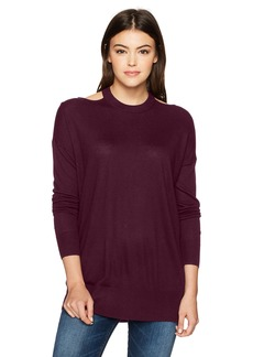 Splendid Women's Canarise Cut Out Sweater deep Plum XS