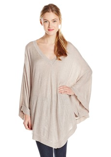 Splendid Women's Cashmere Blend Cape Sweater Poncho  Medium/Large