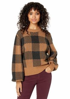 Splendid Women's Cashmere Long Sleeve Pullover Sweater  M