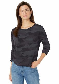 Splendid Women's Cotton Slub Crewneck Long Sleeve T-Shirt  XL