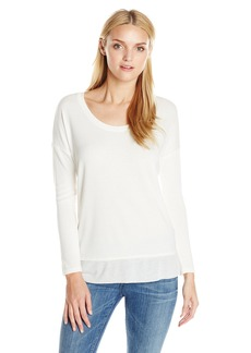 Splendid Women's Cozy Jersey with Feather Rib Tunic Top