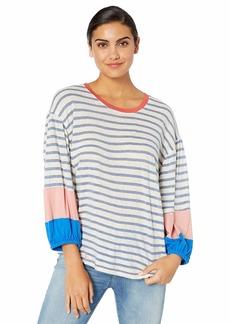 Splendid Women's Crewneck 3/4 Sleeve Tee T-Shirt  L