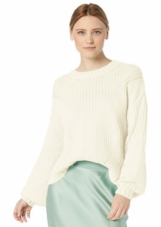Splendid Women's Crewneck Cable Knit Pullover Sweater Sweatshirt  M