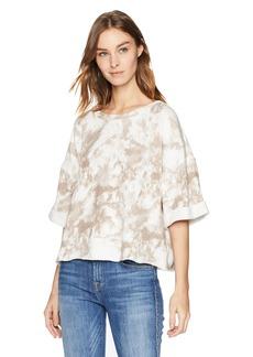 Splendid Women's Cropped Short Sleeve Sweatshirt  XS
