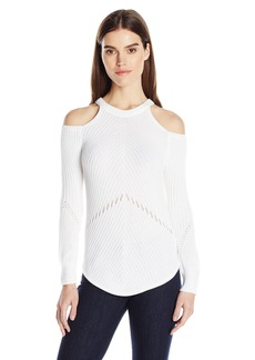 Splendid Women's Cut Out Cold Shoulder Long Sleeve Sweater