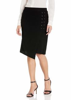 Splendid Women's Drapey Lux Rib Lace Up Skirt  M