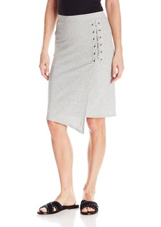 Splendid Women's Drapey Lux Rib Lace up Skirt  M