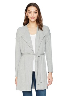 Splendid Women's Drawcord Cardigan Grey Heather M