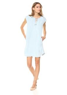 Splendid Women's Drop Shoulder Dress Indigo Crosshatch  S