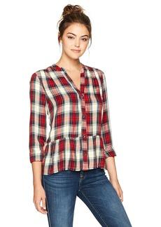 Splendid Women's Edgware Plaid Shirt Cherry L