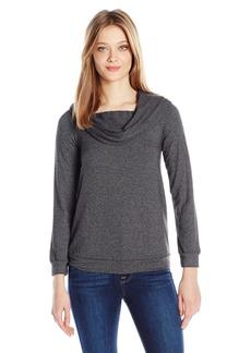 Splendid Women's Foldover Sweatshirt  XS