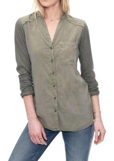 Splendid Women's Front Pocked LS Shirt