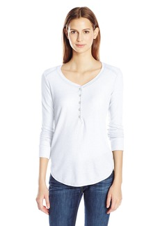 Splendid Women's Heathered Thermal Henley  Medium