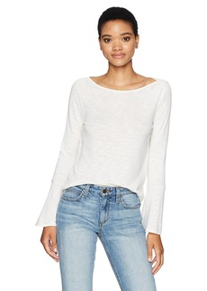 Splendid Women's Heavy Slub Top with Bell Sleeve  L