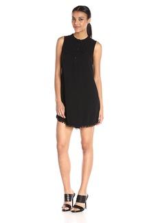 Splendid Women's Indigo Crosshatch Dress  Large