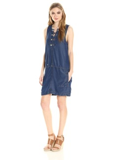 Splendid Women's Indigo Lace up Dress  M
