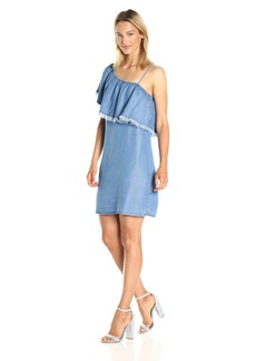 Splendid Women's Indigo One Shoulder Dress  L