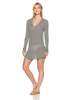 Splendid Women's Itsy Ditsy Floret Hoodie Tunic Cover up  XS