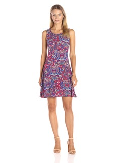 Splendid Women's Kloe Paisley Dress Cranberry Multi S