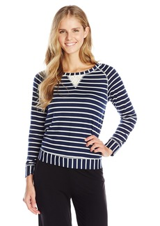 Splendid Women's Lace Trimmed Pullover