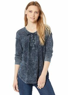 Splendid Women's Lace Up Long Sleeve Tee T-Shirt  M