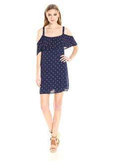 Splendid Women's Lacy Polka Dot Print Dress  M