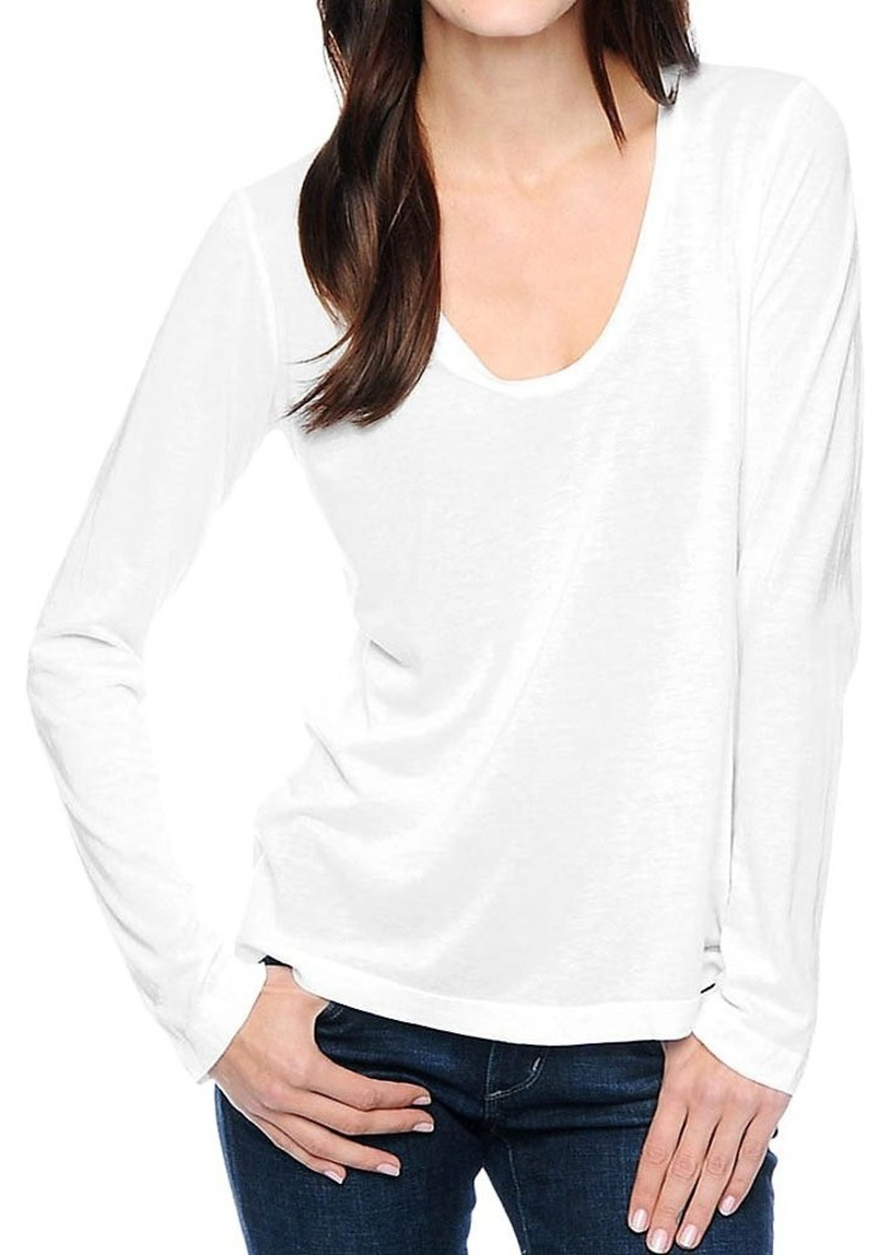Splendid Women's Light Jersey Long Sleeve Scoop Neck Tee