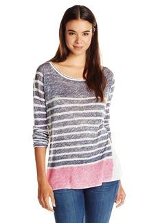 Splendid Women's Linen Lightweight Print Sweater
