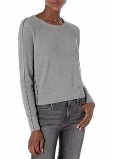 Splendid Women's Long Sleeve Cashmere Blend Pullover Popstitch Sweater  XS