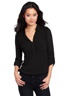 Splendid Women's Long Sleeve Collar Top Shirt  Large