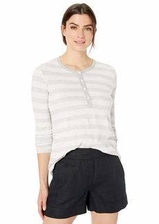 Splendid Women's Long Sleeve Henley T-Shirt Tee  M