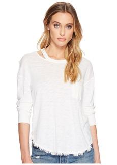 Splendid Women's Long Sleeve Pocket Top Off  L