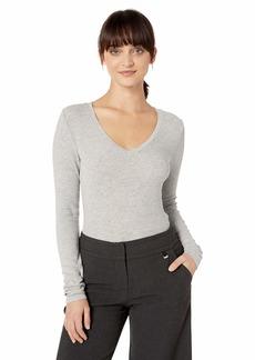 Splendid Women's Long Sleeve Rib Shirt  L