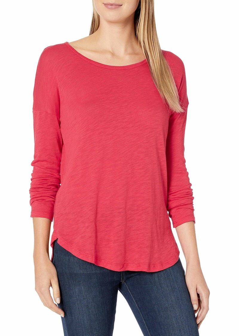 Splendid Women's Long Sleeve Super Soft Easy Crewneck Tee  L