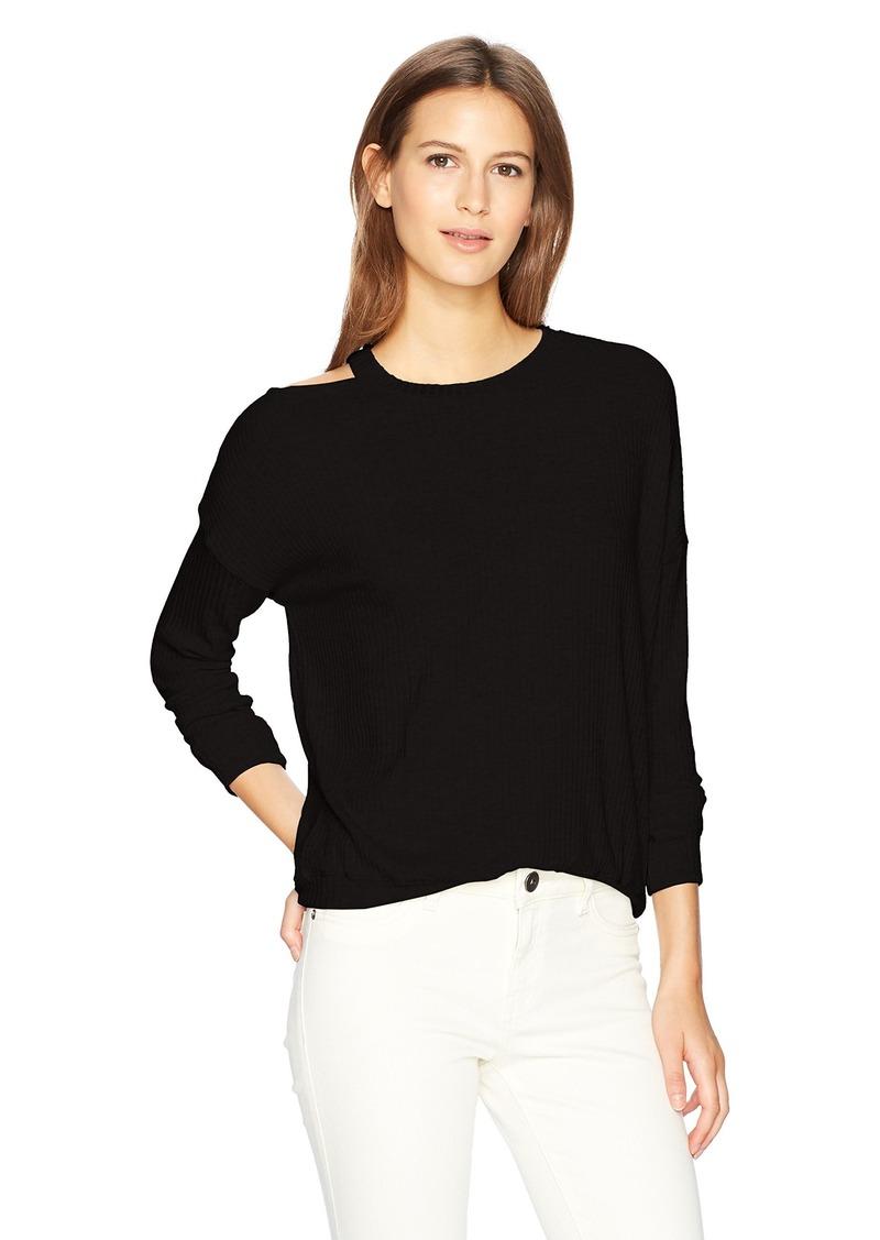 9c3ec00814 SALE! Splendid Splendid Women s Melange Sylvie Rib Shirt L