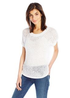 Splendid Women's Mesh Netting Knit Top