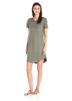 Splendid Women's Mixed Media T-Shirt Dress  XL