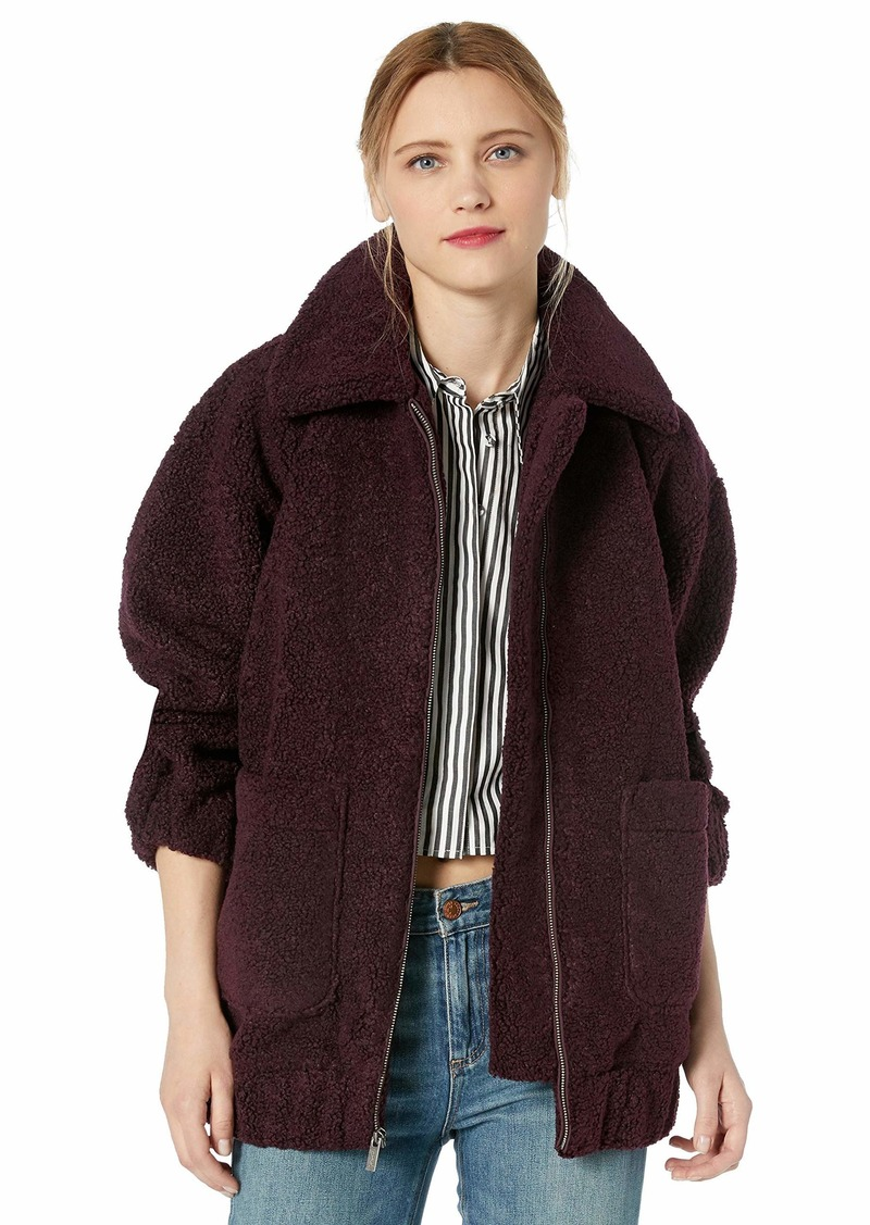 Splendid Women's Oversized Teddy Jacket  XL