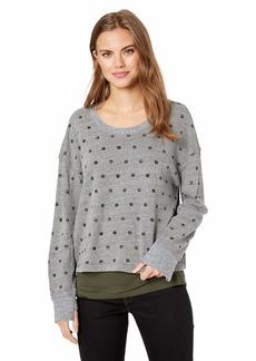 Splendid Women's Paint dot Active Sweatshirt  l