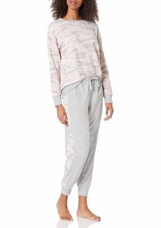 Splendid Women's Pajama Pullover Sweatshirt & Sweatpant Lounge Set  L