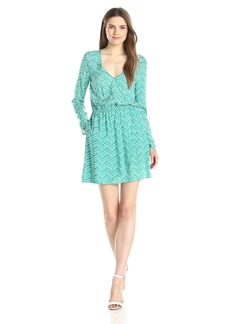 Splendid Women's Plume Print Surplice Dress
