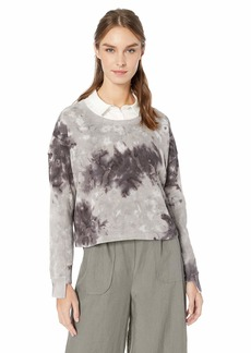 Splendid Women's Pullover Active Treatment Sweatshirt Grey Storm xs