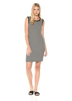 Splendid Women's Rayon 2x1 Rib Dress Cross Back  L
