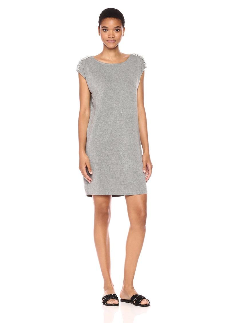 Splendid Women's Rayon Jersey Ribbed Dress Heathergrey M
