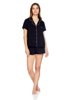 Splendid Women's Rayon Sleeve Top and Short Classic Pajama Set Pj  L