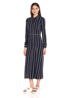 Splendid Women's Rope Stripe shirtdress Maxi  L